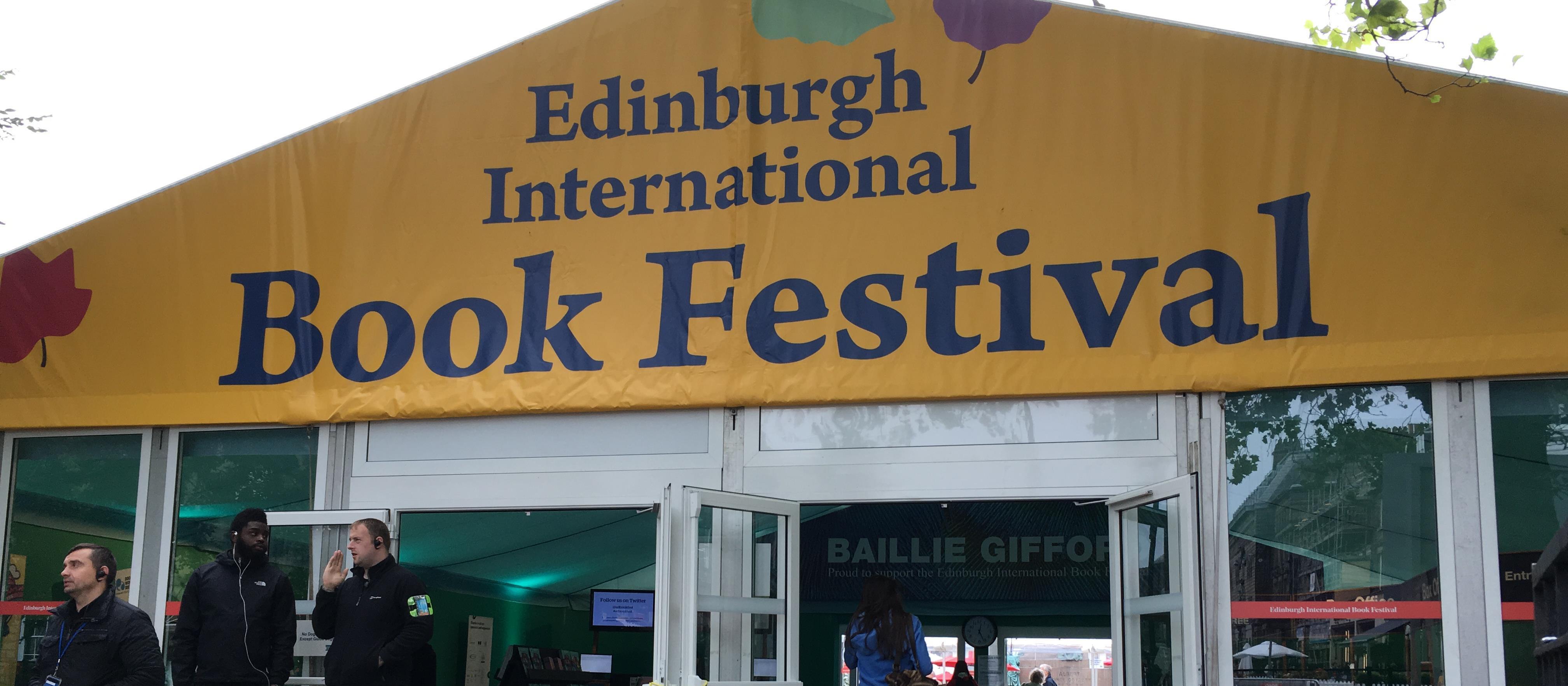 Photo of Edinburgh International Book Festival entrance.