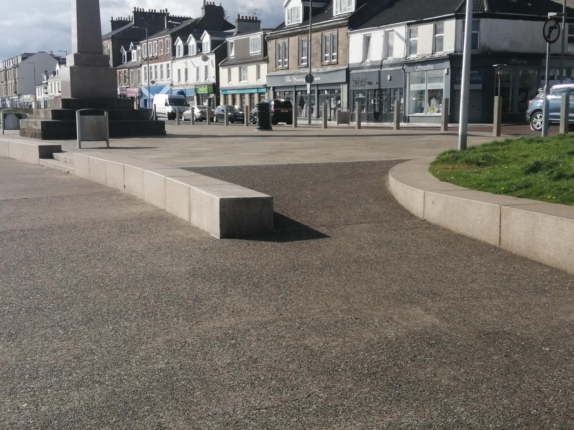 Ramp access to Helensburgh Seafront