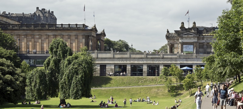 The Scottish National Gallery from East Princes Street Gardens