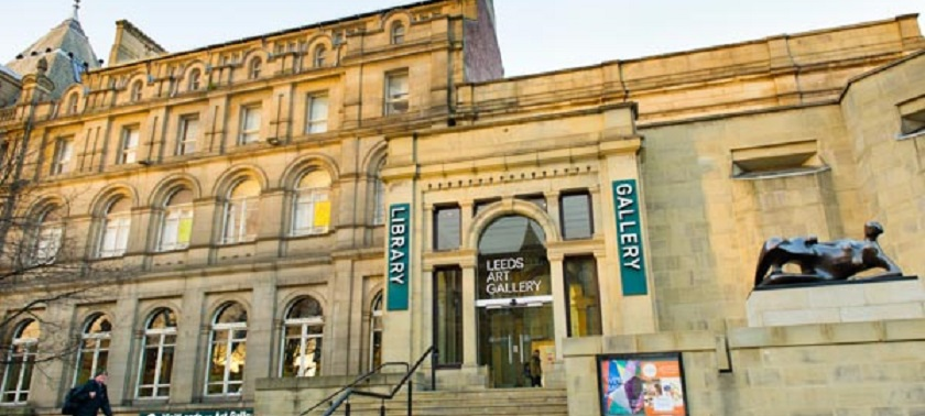 Photo of Leeds Art Gallery front entrance.